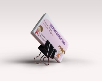 One Side Card Daycare Business Card