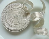 Moroccan silver  metallic trim, medium 5 metres