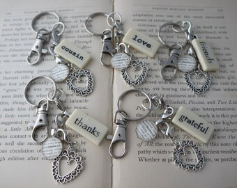 BRIDESMAID Key Chains Personalized Customized Wedding Party Gifts, Bridesmaid Gifts by Kristin Victoria Designs