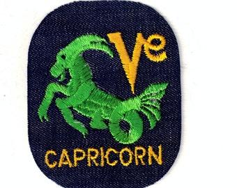 Capricorn Zodiac Signs Vintage Patch Sewing Applique