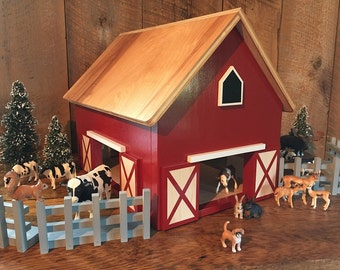 Kids Hardwood Toy Barn