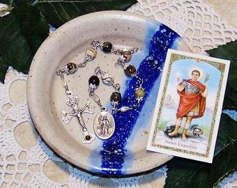 Unbreakable Catholic Relic Chaplet of St. Expedite - Patron Saint of Merchants, Navigators, Prompt Solutions and Against Procrastination