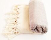 Cloud Handwoven Grey Beach Towel