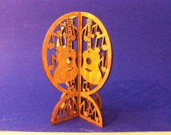 3D Standing Guitar Ornament