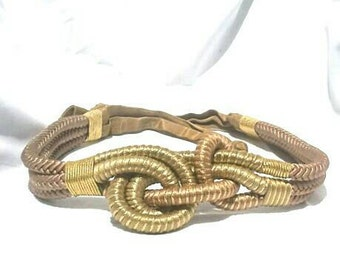 Tricolor Gold Rope Vintage Belt