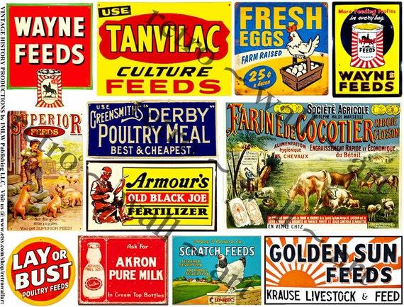 Rusty Metal Signs Farm Tin Signs Ephemera Stickers Dairy