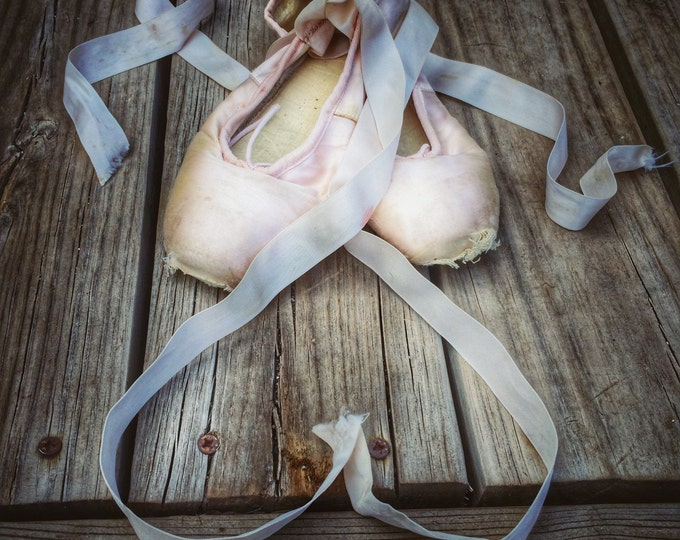 Vintage Pointe Shoes Pink Ballet Slippers