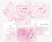 The Avery Collection | Hand-Painted Watercolor Wedding Invitations - Sample