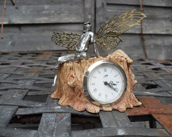 Fairy Clock. The Faerie King .Pewter by Alchemy Carta.
