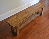 Bench, Douglas Fir Bench, Reclaimed Wood Bench, Barn Wood Bench - Free Shipping