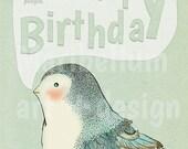 Birthday Bird Humor Card Printable DIY