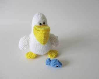 Percy the Pelican toy knitting patterns