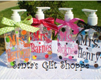 Teacher Gift, Personalized Hand Sanitizer, Appreciation Gift, Nurse, Coach, Adults, Teens, Gifts, Stocking Stuffer, Easter Gift
