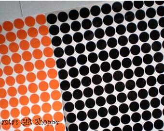"""220 Vinyl Decal 1/2"""" Polka Dot Gloss Sticker Sheet -  Halloween - Bachelorette Party - Scrapbooking"""