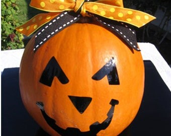 Halloween Pumpkin Smiley Face Vinyl Decal - Home Decor - Halloween - Children