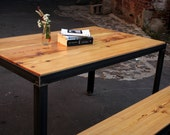 Reclaimed Wood Parsons Base Dining Table