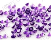 Amethyst (African) Cabochon 3mm Rose Cut Round - 1 cab, CAME1RR3