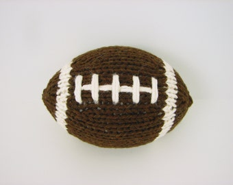 Mini Hand-Knit Football- with stripes