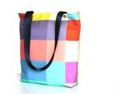Color block, colorful,geometrical  shoulder bag,diaper bag,everyday bag,tote bag