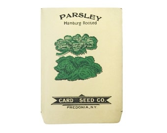 antique 1900s litho card seed co. hamburg rooted parsley packet