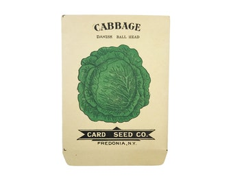 antique 1900s litho card seed co. danish ball head cabbage packet