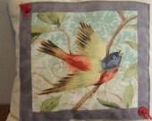 Decorative Little Bird Pillow Accent Pillow Tiny Pillow