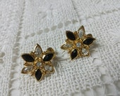 Avon Classics Clip earrings rhinestone Wedding Party