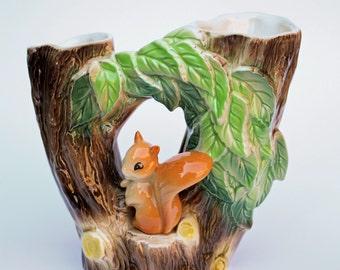 Hornsea 1960's Squirrel vase