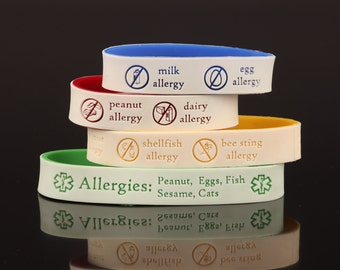 Allergy ID Bracelet with Emergency Contact Information