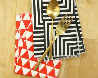 Maze Everyday Napkins - Geometic Modern Organic Cotton