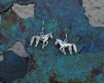 Horse  Earrings Sterling Silver,Equestrian Jewelry Horse Earrings