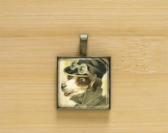 Dog The Driver Pendant Charms,Photo Pendant,Picture Pendant,Image Pendant.