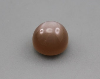 Chocolate Peach natural Moonstone Cabochon