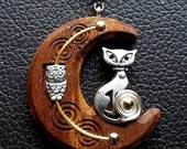 "015 Owl n' Pussy-Cat on Walnut (1-5/8"")"