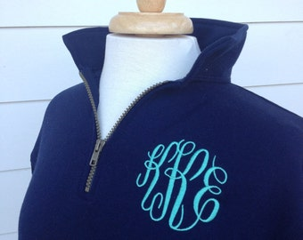 Monogrammed Pullover  Zip Monogrammed Sweatshirt  -1/4 Monogrammed Sweatshirt from The Palm Gifts