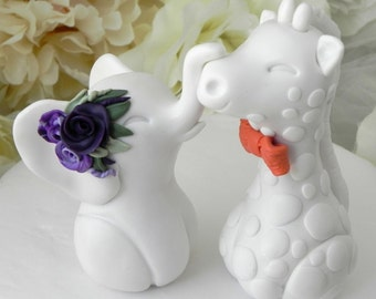 Wedding Cake Topper, Elephant and Giraffe, Mix and Match, Bride and Groom Keepsake, Personalized Especially For You