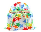 Big Cloth Gift Bag with Bright Stars for Birthday, Graduation, Father's Day, or other Celebration