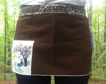 leaping cow kid apron