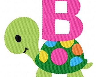 Polka Dot Turtle Machine Embroidery Monogram Font Set  Joyful Stitches // Joyful Stitches