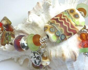 Lampwork Bracelet, SERENITY