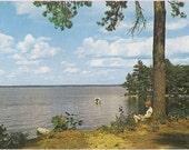 Sebago Lake Goodwin's Lodge - Maine Vintage Postcard - 60's Maine Souvenir - Retro Travel Maine Memorabilia - Vintage Lake