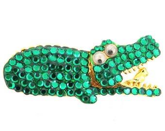 Green Crocodile Pin Brooch 1005012