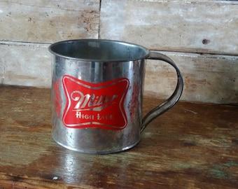 Vintage Miller Beer Metal Cup