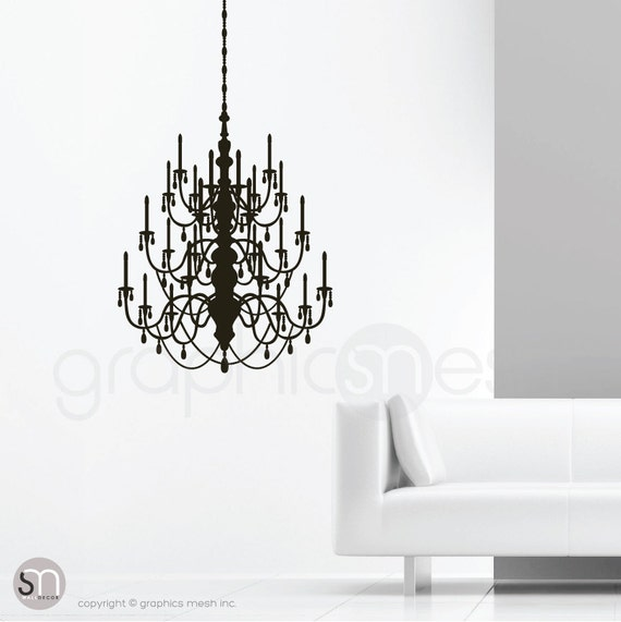 Wall decals crystal chandelier surface graphics modern - Sparkling small crystal chandelier designs for any interior room ...