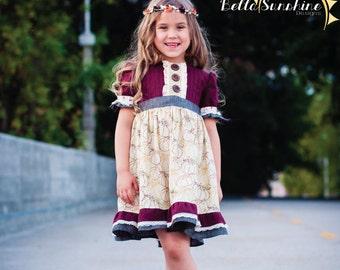Sweet Lilly Pintuck Dress & Tunic, PDF Sewing Pattern, girls dress pdf, flower girl dress, dress pattern pdf, Girls Pattern, sewing pattern