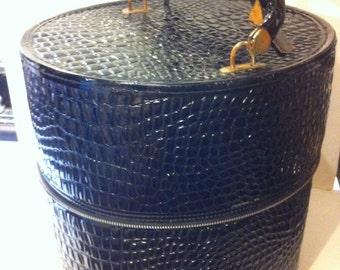Vintage Large Black Hat/Wig Box