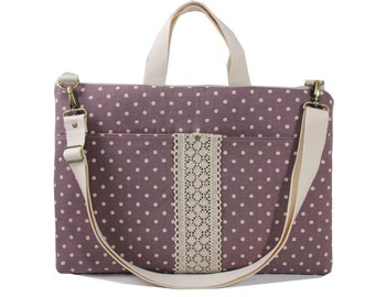 "SALE-15"" Macbook or Laptop bag with front pocket and detachable shoulder strap -Ready to ship"