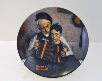 The Music Maker Fifth Plate Norman Rockwell Heritage Collection No COA/ Box l981