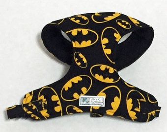 Batman Comfort Soft Dog Harness - Made to Order-