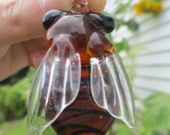 HONEY BEE BUG Pendant Glass Art Focal Bead